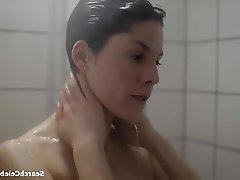 Brunette, Celebrity, Shower, Small Tits