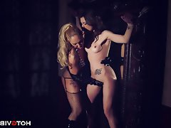 Femdom, Latex, Lesbian, Old and Young, Squirt