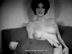 Babe, Big Boobs, Brunette, Nipples, Vintage