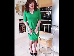 British, MILF, Redhead, Secretary, Stockings