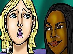Lesbian, Interracial, MILF, Threesome