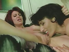 Brunette, Lesbian, Strapon