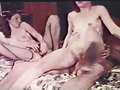 Blowjob, Hairy, Hardcore, Threesome, Vintage