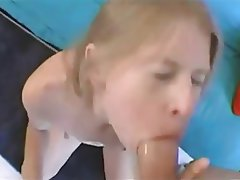 Blonde, Blowjob, Skinny, Small Tits
