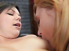 Ass Licking, Blonde, Brunette, Cunnilingus