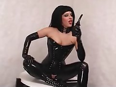Latex, Lingerie, Masturbation, Orgasm