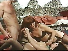 Group Sex, Hairy, Redhead, Stockings, Vintage